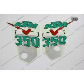 Dekor für Kühlerspoiler KTM 350 GS Zweitakt Modell 1991 Original