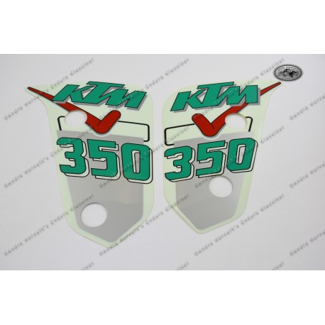 Decals for Radiator Shrouds KTM 500 MX two stroke Model 1991, new old stock